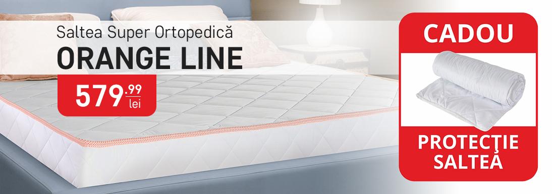 Saltea Super Ortopedica Orange Line - antialergica, anatomica - 160x200 cm