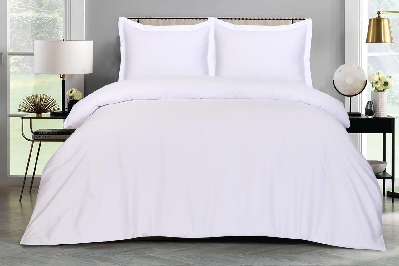Lenjerie de pat dubla, Hotel Line Luxury, Bedora, 400 TC, 100% bumbac, alb