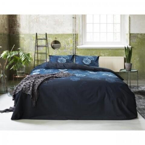 Lenjerie de pat pentru doua persoane Good Morning Beautiful Blue, Primaviera Deluxe, 100% bumbac