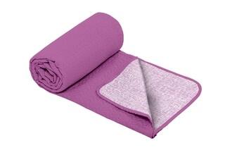 Cuvertura matlasata cu 2 fete Alcam, microfibra, 210x220 cm, Purple Jeans