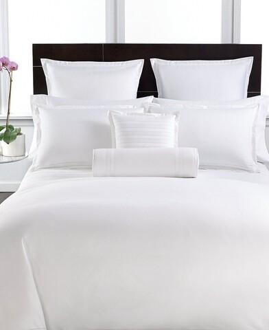 Lenjerie de pat pentru doua persoane, King Size, Boutique Satin, Luxury, 4 piese, 100% bumbac egiptean satinat, TC 400, 160 gr/mp, alb