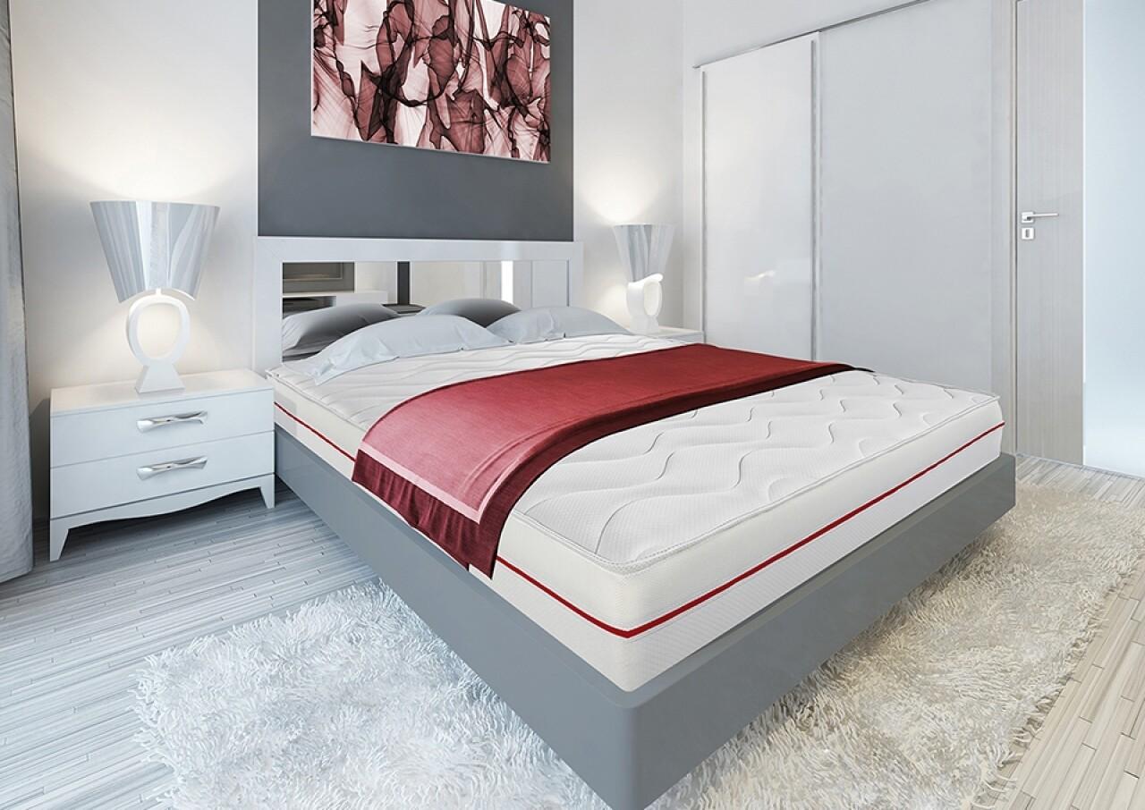 Saltea Super Ortopedica Red Line 90x200 cm 7 zone de confort, 14+2 Memory