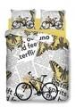 Lenjerie de pat dubla Bike, Bedora, 4 piese, Bumbac Ranforce