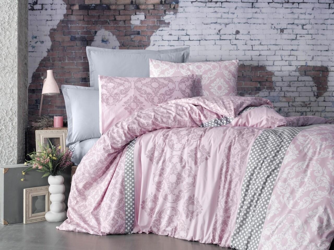 Lenjerie de pat pentru doua persoane, Paix Bedora, Bumbac Ranforce, 6 piese