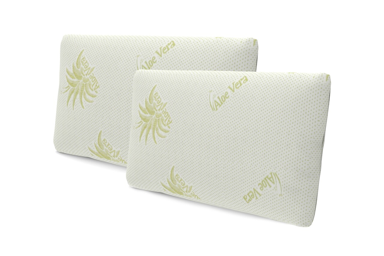 Set 2 perne Green Future, Soft Memory Latex Aloe Vera 39x62x12.5 cm