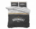 Lenjerie de pat dubla Goodnight Kiss Anthracite, Dreamhouse, 3 piese, 100% bumbac