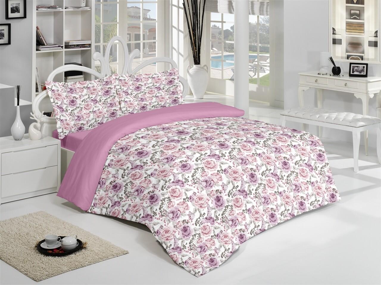 Lenjerie de pat pentru doua persoane Joie Bedora, Cotton Rich
