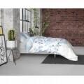 Lenjerie de pat pentru doua persoane Sweet Flowers Turquoise, Royal Textile, Flannel