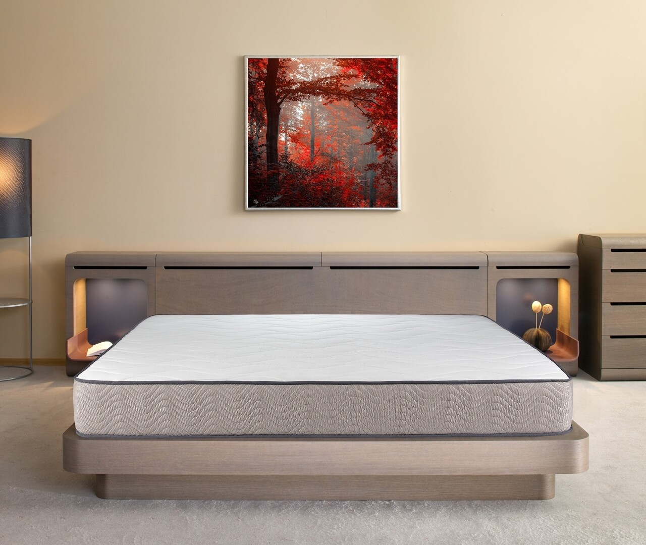 Saltea Bedora, Fresh Memory Grey Line, Ortopedica, Anatomica 160x200 cm