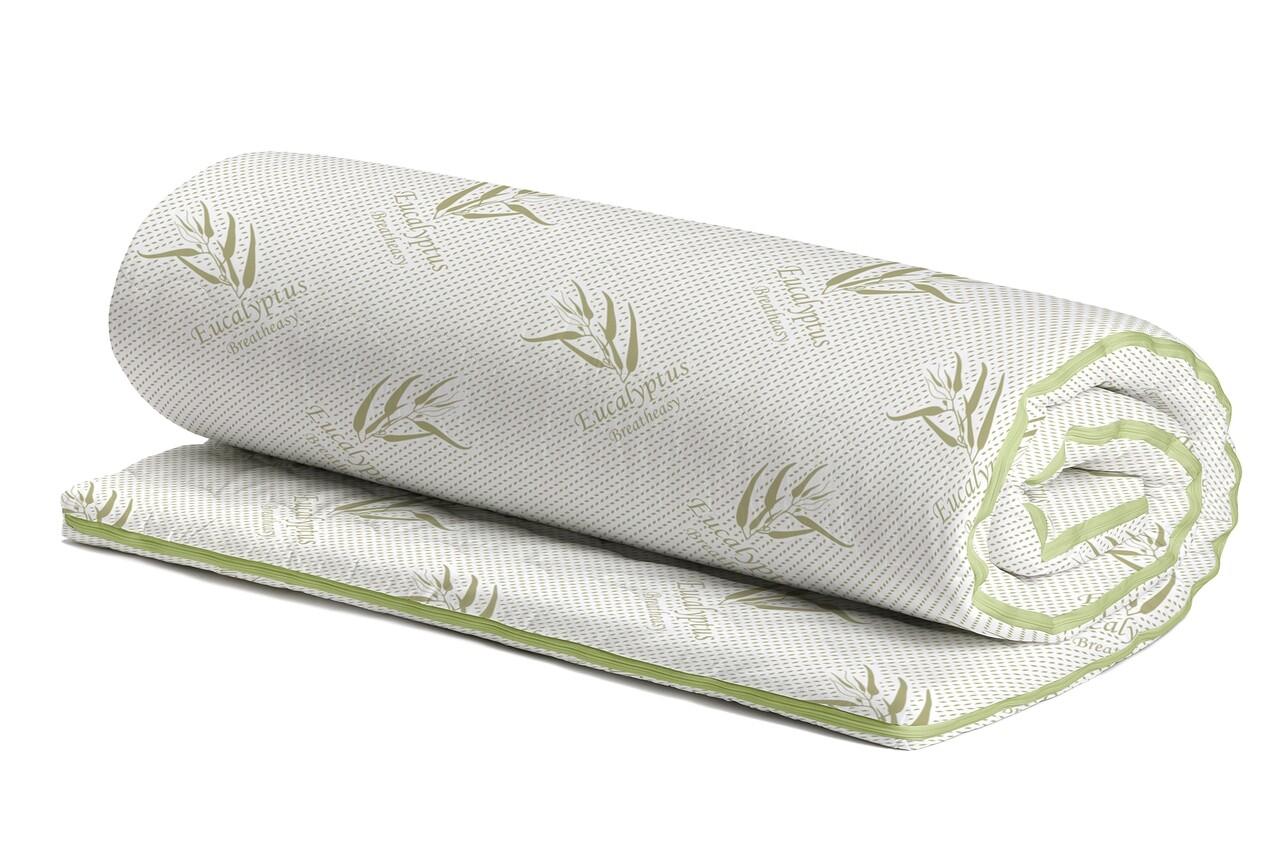Topper saltea Eucalyptus Confort, 7 zone, 80x190 cm