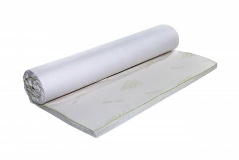 Topper saltea Aloe Vera Therapy Memory Arctic Gel 7 zone de confort, Green Future, 140x190 cm