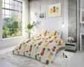 Lenjerie de pat pentru doua persoane Pineapple White, Sleeptime, Cotton Blended