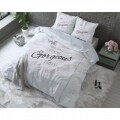 Lenjerie de pat dubla Pure Gorgeous Grey, Dreamhouse, 3 piese, 100% bumbac
