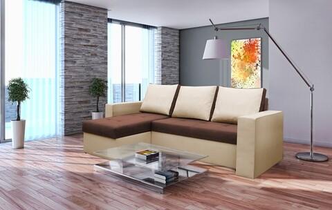 Coltar extensibil Toledo, 226x145x79 cm, 2 lazi depozitare, Reversibil, Bej/Maro