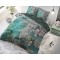 Lenjerie de pat dubla Tiran Flower Green, Dreamhouse, 3 piese, 100% bumbac