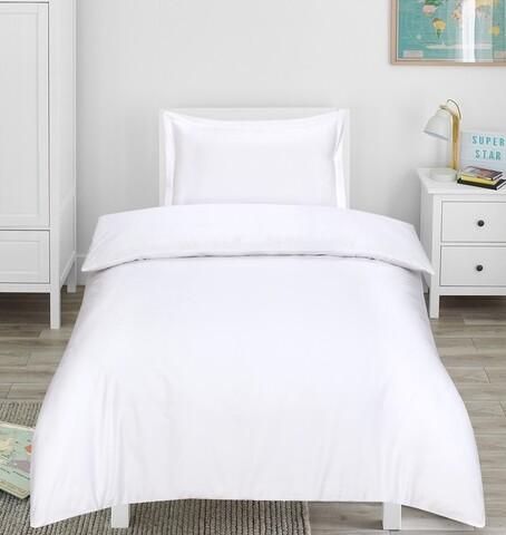 Lenjerie de pat, 1 persoana, Hotel Line Luxury, Bedora, 400 TC, 100% bumbac, alb
