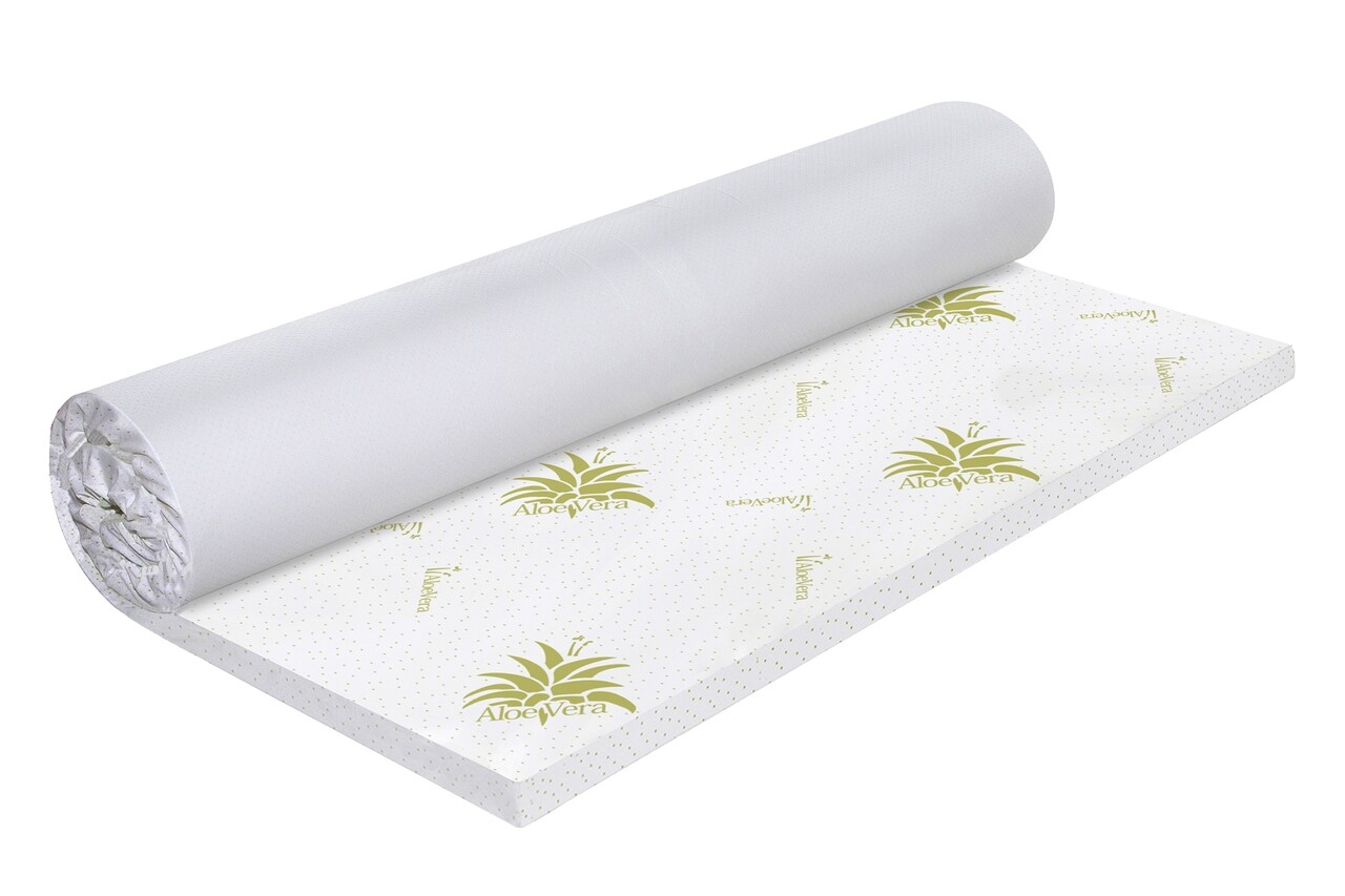 Topper saltea Green Future Aloe Vera Free Air Memory 140x190 cm